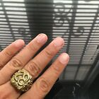 Beautiful Ring Om Sacred Amulet Love Luck Rich Attract Protect Size 9