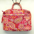 Vera Bradley Paisley Floral Pink Red 14 Inch Lap Top Zipper Case Quilted