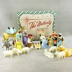 Vintage Hartland Nativity Set w Original Box 19 Pc Plastic Figures Christmas