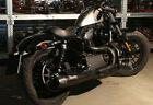 arrow full exhaust system black mohican harley davidson sportster 2006 06