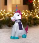 Christmas Holiday 2018 Unicorn Inflatable 4ft Indoor Outdoor Airblown Yard Decor