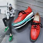 New Arrive High Platform Pumps Shoes Wedge Heel Cow Leather Womens Sneakers Chic