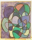 VINTAGE ABSTRACT MODERNIST OIL PAINTING MID CENTURY MODERN Signed 1966