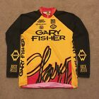 Vintage Gary Fisher Long Sleeve Cycling Jersey Large L Made In USA Rock Shox