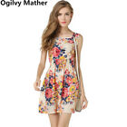 Summer Women Dress Ladies Print Casual Sleeveless Beach Bohemian Cheap Clothing