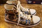 ForU Designs Womans Dog Puppy High Top Sneakers Shoes Sz 37 6.5