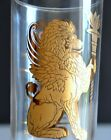 12 ZODIAC SIGN SET Gold Glass TUMBLERS Astrology Horoscope Collins Bar Ware