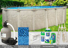 12x24 Oval 52 High Above Ground Swimming Pool Package Space Saving Design
