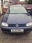 2002 VW GOLF TDI 19 Mark 4 Blue Metallic Diesel 185000 miles GREAT RUNNER