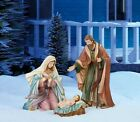 4 pc Indoor Outdoor Christmas Nativity Set Holy Family Scene Hand Painted