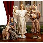 1 Bar Tools  Glasses X Nativity Shepards And Angel For 10 Inch Set