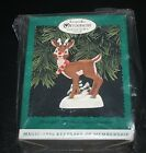 New Hallmark Rudolph the Red Nosed Reindeer Ornament Nose Lights Up LE  -F