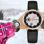 YK37 Women's Casual Quartz Leather Band New Strap Watch Analog Wrist Watch Cheap