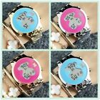 2019 Round Women's Stainless steel LED Casual Electronic Strip T Bear Watches