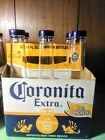 Corona Coronita Beer Salt  Pepper glass Shakers  never used with carton