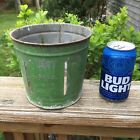 Vintage 2 QT Dry Measure Green Farm Stand Tin Bucket Container Mfd Acme Can Co
