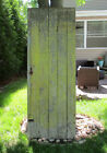 Vintage Yellow WOOD BARN DOOR wooden antique architectural salvage farm house