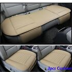 3 Set Car Universal Seat Cover Bamboo Breathable Pu Leather Pad Chair Cushion Us