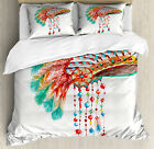 Native American Duvet Cover Set with Pillow Shams Tribe Chief Print