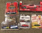Greenlight Chase Lot Of 5 Datsun C 10 Pickup Ford F 150 Truck Trailer Torino