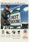 1956 Bart's TEXACO GAS STATION & ATTENDANT & REST ROOMS REPLICA METAL SIGN