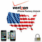 FACTORY UNLOCK VERIZON IPhone 3GS 4 4S 5 5S 5C 6 6+ 6S 6S+ SE 7 7+ ESN Clean