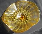 Handmade Blown Glass Wall Flowers Wall Platter GOLD 12