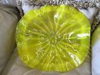 Blown Glass Wall Flowers Wall Platter New YELLOW 12 inches Handmade