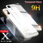 For iPhone XS Max XR 8 7 6S+ Front  Back Clear Tempered Glass Screen Protector
