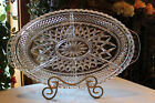 Vintage 7-Part Hors d' oeuvre Serving Tray/ Platter/ Center Pc By Indiana Glass