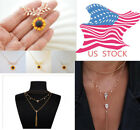 Newest Sunflower Pendant Sun Flower Rose Gold Necklace Chain Jewelry Cute Girl