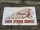 Indian Vintage Motorcycle Dealer Sign Banner Moped Motorcycle Chief Scout Harley