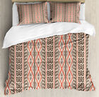 Southwestern Duvet Cover Set with Pillow Shams Native Art Borders Print
