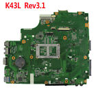 For Asus X44H X84H K84L K43L Rev31 Laptop Motherboard HDMI HM65 Mainboard USA