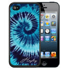 PERSONALIZED CASE FOR iPHONE XR XS MAX X 8 7 6 PLUS RUBBER BLUE TIE DYE HIPPIE