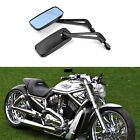 For Harley-Davidson Softail Deluxe FLSTN Black Motorcycle Rearview Side Mirrors