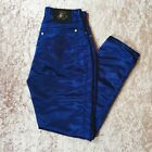 Versace Genuine Rare Vintage 90s Y2k Satin High Waist Trousers Jeans Xs 26 Inch