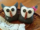 Two Handcrafte Owl tuck's/ornie's/bowl filler's