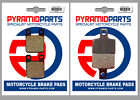 Front & Rear Brake Pads (2 Pairs) for Macbor XC 50 515 R 6V 2004