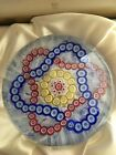 Baccarat Millefiori Garlands Crystal Paperweight on Muslin Lace