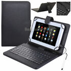 """US For RCA Voyager 7"""" 8"""" 10.1"""" Tablet Leather Case Micro USB Keyboard Cover +Pen"""