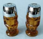 Pepper Shakers Amber Georgian