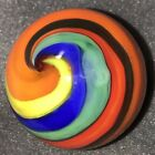 Handmade Marble Gold Stone ! ( Corkscrew - Spiral - Spin ) 1 1/2 + Inches ! W