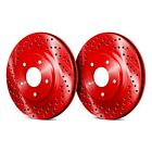 For BMW 850Ci 93-97 Chrome Brakes Drilled & Slotted 1-Piece Front Brake Rotors