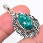 """Russian Amazonite 925 Sterling Silver Vintaage Style Pendant 1.46""""(44)_IV"""