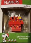 Hallmark Peanuts Gang Snoopy on Doghouse Christmas Ornament New 2015