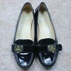 Cole haan black patent leather moc lock driving loafer size 9.5B