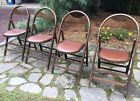 4 Vintage Mid Century Bent Wood Folding Chairs