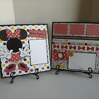 Disney Minnie Mouse red 2 page Premade Cardstock Scrapbook layouts