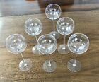 6 Vintage Hock/ Long Stem Wine Glasses